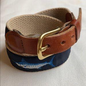 Leather Man Ltd Belt, Handmade, Brass, Size 20, 2T